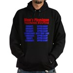 Mens Physique Training Routine Hoodie