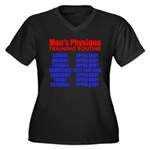 Mens Physique Training Routine Plus Size T-Shirt