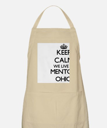 Keep calm we live in Mentor Ohio Apron