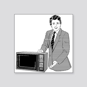 Microwave Salesman Sticker