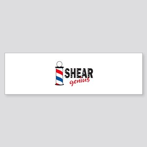 SHEAR GENIUS Bumper Sticker