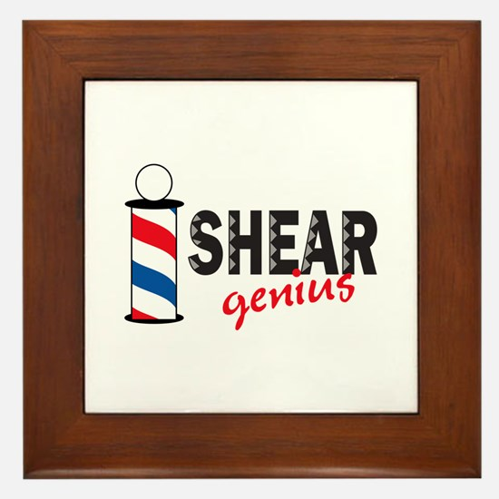 SHEAR GENIUS Framed Tile
