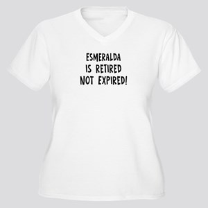 Esmeralda: retired not expire Women's Plus Size V-