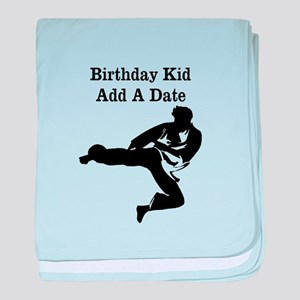 Martial Artist baby blanket