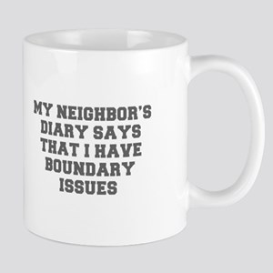 MY NEIGHBOR S DIARY SAYS THAT I HAVE BOUNDARY ISSU