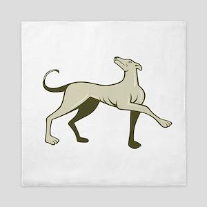 Greyhound Dog Marching Looking Up Cartoon Queen Du