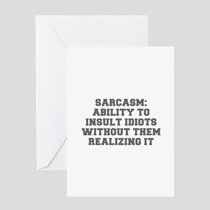 Birthday humor insult greeting cards cafepress sarcasm ability to insult idiots without them real m4hsunfo