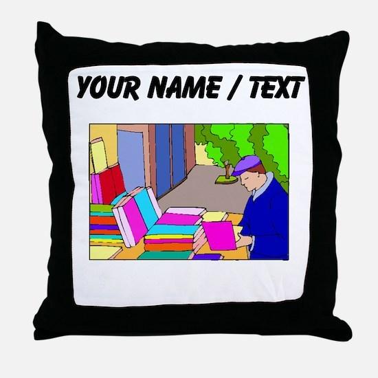 Book Vendor (Custom) Throw Pillow