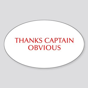 Thanks Captain Obvious-Opt red Sticker