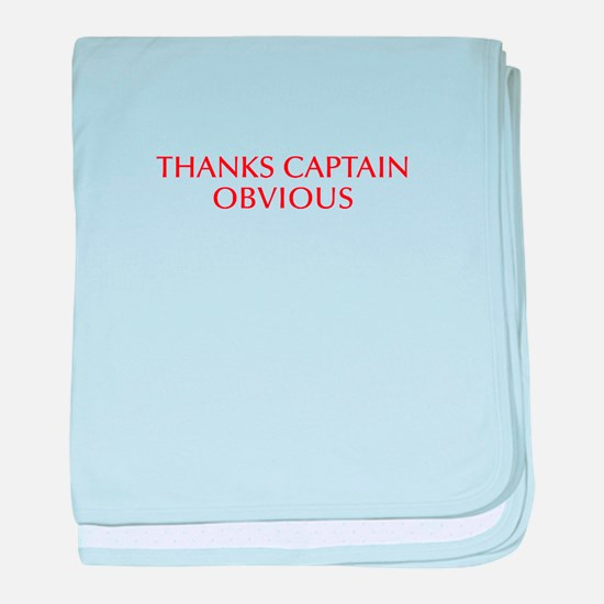 Thanks Captain Obvious-Opt red baby blanket