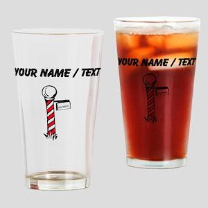 Barber Pole (Custom) Drinking Glass
