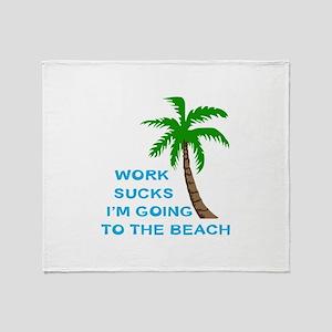 WORK SUCKS Throw Blanket