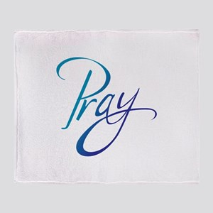 PRAY Throw Blanket