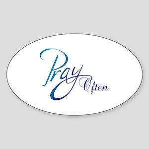 PRAY OFTEN Sticker