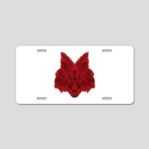 SEEING RED Aluminum License Plate