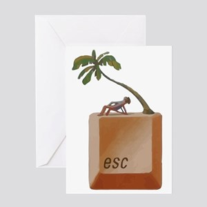 "ESCAPE ""Button"" Greeting Card"