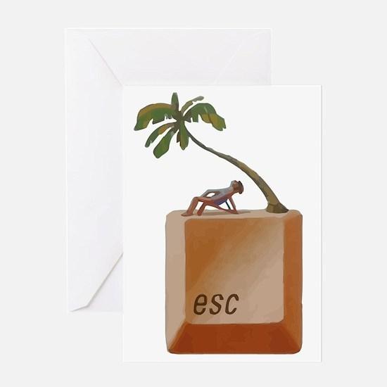 """ESCAPE """"Button"""" Greeting Card"""