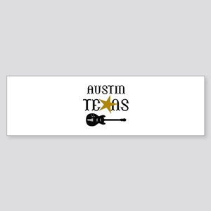 AUSTIN TEXAS MUSIC Bumper Sticker