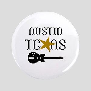 """AUSTIN TEXAS MUSIC 3.5"""" Button"""