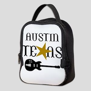 AUSTIN TEXAS MUSIC Neoprene Lunch Bag