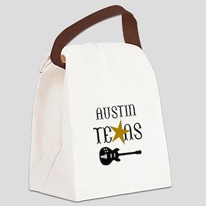 AUSTIN TEXAS MUSIC Canvas Lunch Bag
