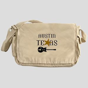 AUSTIN TEXAS MUSIC Messenger Bag