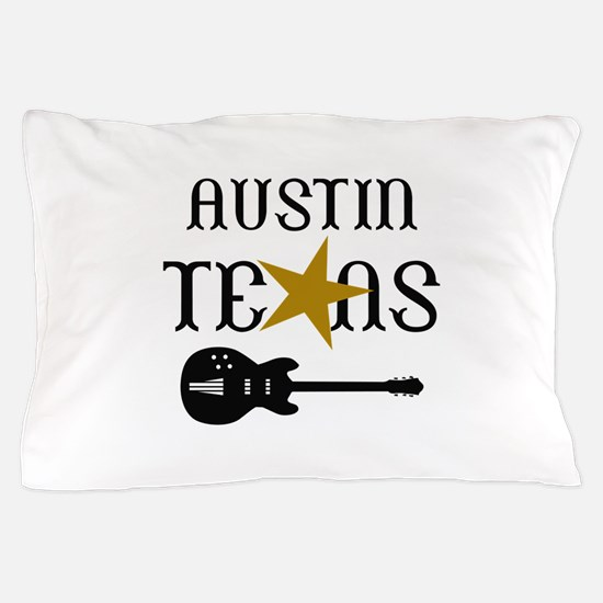 AUSTIN TEXAS MUSIC Pillow Case