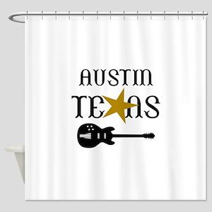 AUSTIN TEXAS MUSIC Shower Curtain