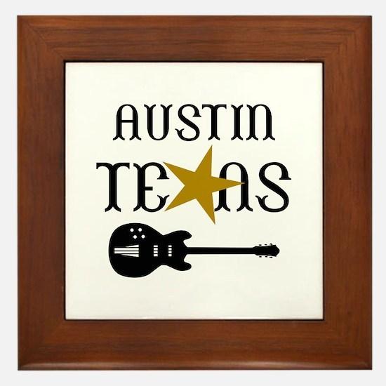 AUSTIN TEXAS MUSIC Framed Tile