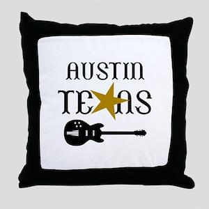 AUSTIN TEXAS MUSIC Throw Pillow
