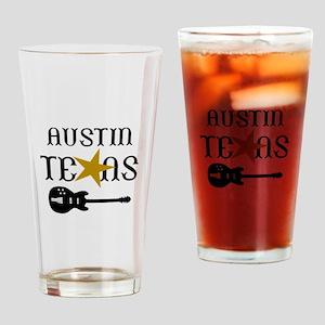 AUSTIN TEXAS MUSIC Drinking Glass
