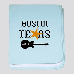 AUSTIN TEXAS MUSIC baby blanket