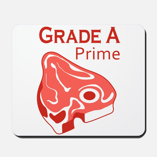 GRADE A PRIME BEEF Mousepad