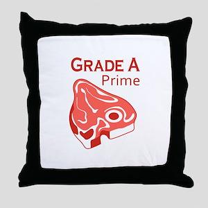 GRADE A PRIME BEEF Throw Pillow