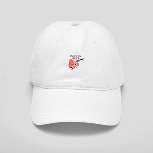 HERES THE BEEF Baseball Cap