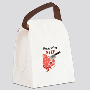 HERES THE BEEF Canvas Lunch Bag