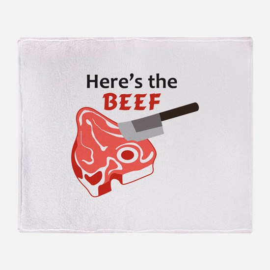 HERES THE BEEF Throw Blanket