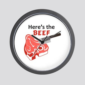 HERES THE BEEF Wall Clock