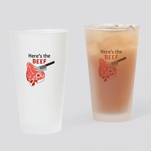 HERES THE BEEF Drinking Glass