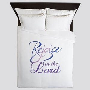 REJOICE IN THE LORD Queen Duvet