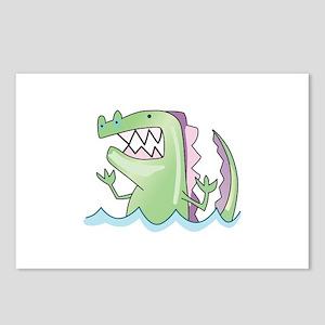 ALLIGATOR IN WATER Postcards (Package of 8)