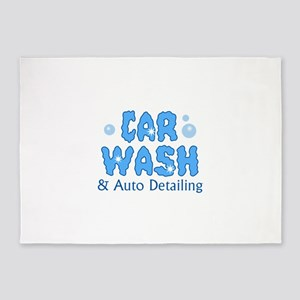 CAR WASH AUTO DETAILING 5'x7'Area Rug