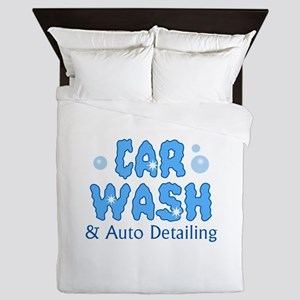 CAR WASH AUTO DETAILING Queen Duvet