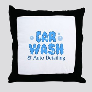 CAR WASH AUTO DETAILING Throw Pillow