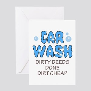 Car wash greeting cards cafepress dirty deeds done dirt cheap greeting cards m4hsunfo