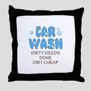 DIRTY DEEDS DONE DIRT CHEAP Throw Pillow