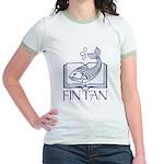 Fin Tan Dk Blue Jr. Ringer T-Shirt