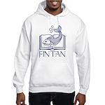 Fin Tan Dk Blue Hooded Sweatshirt