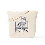 Fin Tan Dk Blue Tote Bag