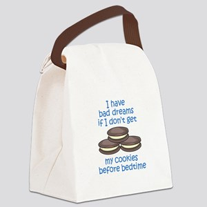COOKIES BEFORE BEDTIME Canvas Lunch Bag